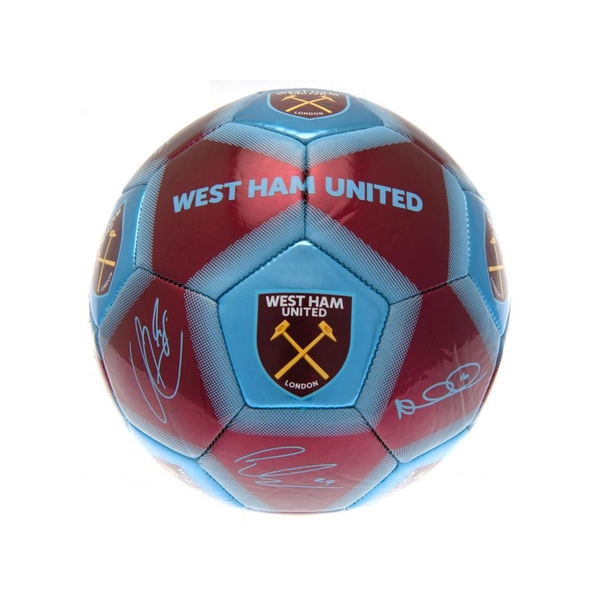 West Ham Signature Ball Burgundy Sky Blue Size 5