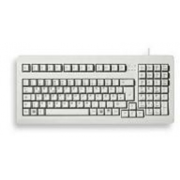 Cherry Compact 19 inch PC Keyboard Light Grey UK Layout