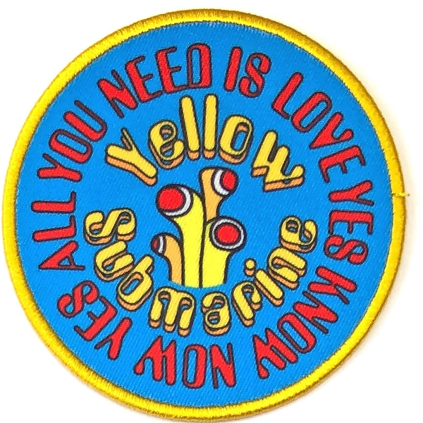 The Beatles - Yellow Submarine AYNIL Circle Standard Patch