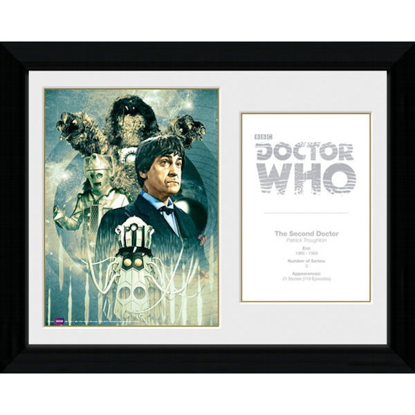 Doctor Who 2nd Doctor Patrick Troughton Framed Photographic Print