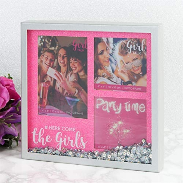 Girl Talk Sparkle Box Frame Multi-Aperture - The Girls