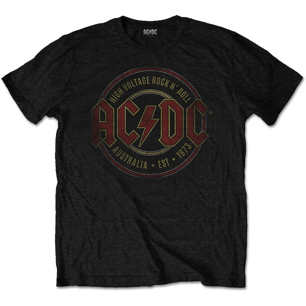 AC/DC - Est. 1973 Men's Small T-Shirt - Black