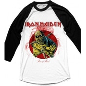 Iron Maiden Piece of Mind Mens White Raglan XXL