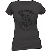 Harry Potter - Distressed Hogwarts Women's XX-Large Fitted T-Shirt - Grey