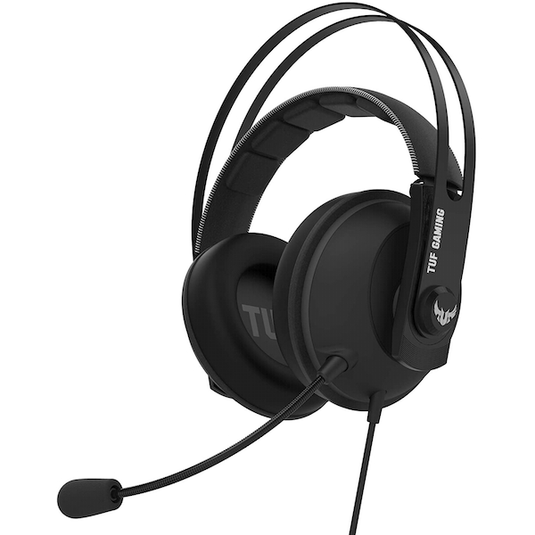 Image of Asus TUF Gaming H7 7.1 Gaming Headset, 53mm Driver, 3.5mm Jack (USB Adapter), Boom Mic, Virtual Surround, Stainless-Steel...