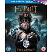 The Hobbit Battle of the Five Armies Blu-ray 3D & Blu-Ray & UV Code