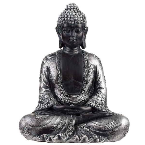 Peace Black & Silver Thai Buddha