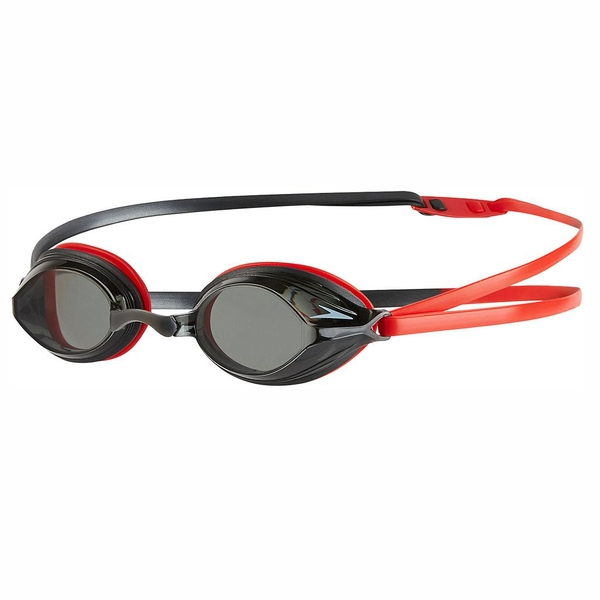 Speedo Vengeance Goggles Red/Charcoal/Smoke Adult