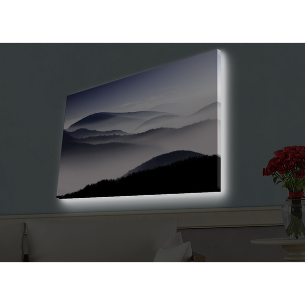 4570HDACT-025 Multicolor Decorative Led Lighted Canvas Painting