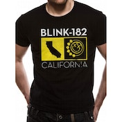 Blink 182 - California State Unisex Medium T-Shirt - Black