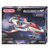 Meccano Space Chaos Titanium Hawk Silver Force