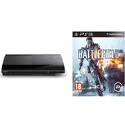 500GB SUPER SLIM Console System Black PS3 with Battlefield 4 Game + China Rising Expansion Pack DLC
