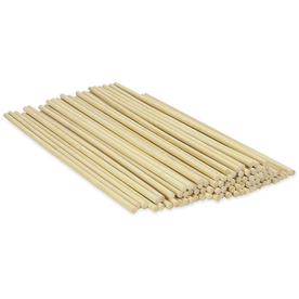 Set of 50 Bamboo Dowel Rods | Pukkr