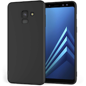 Caseflex Samsung Galaxy A8 (2018) Matte TPU Gel Case - Solid Black