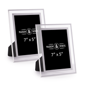 "Glass Photo Frames - Set of 2 | M&W 5"" x 7"""