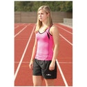PT Ladies Running Vest Fluo Pink/Black 10 (34inch)