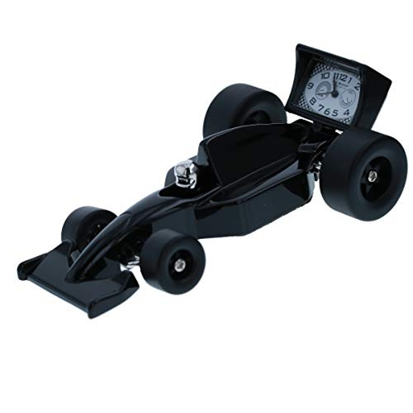 Miniature Clock - Black Racing Car