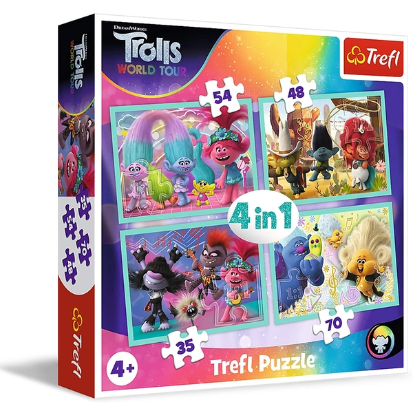 4 In 1 Trolls Concert Tour Jigsaw Puzzle