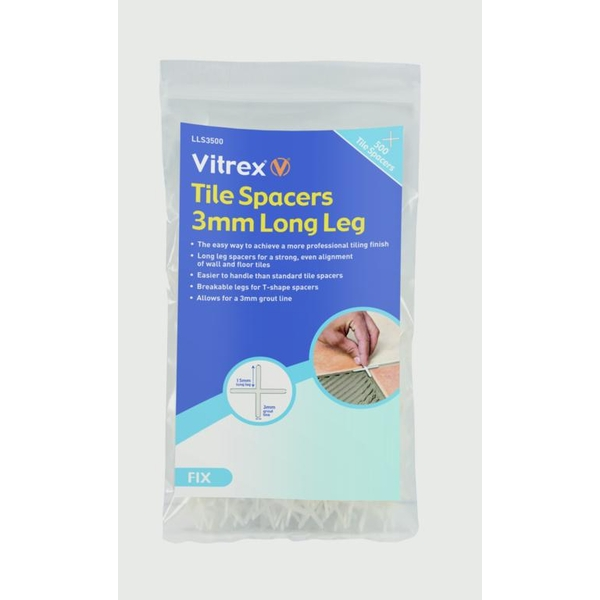 Vitrex Long Leg Tile Spacers 3x500