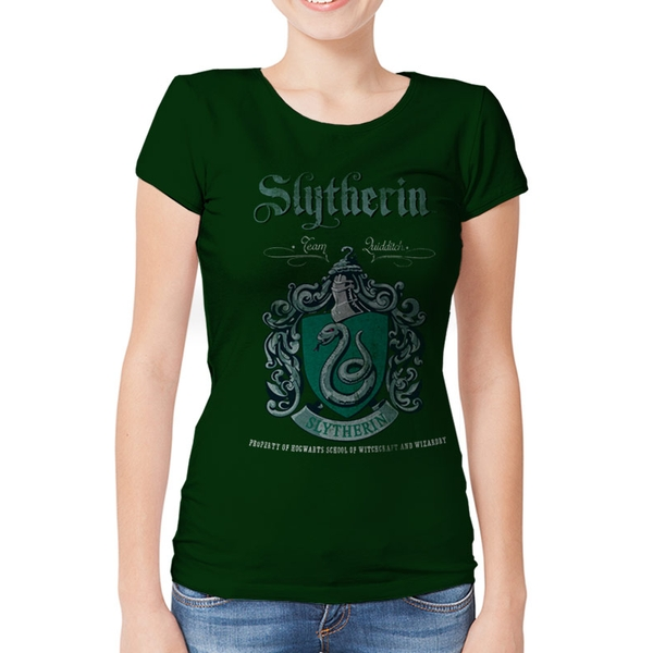 Harry Potter - Slytherin Team Quidditch Women's X-Large T-shirt - Green