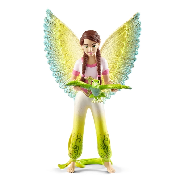 SCHLEICH Bayala Movie Surah with Parrot Kuack Toy Figure