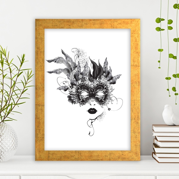 AC95154880 Multicolor Decorative Framed MDF Painting