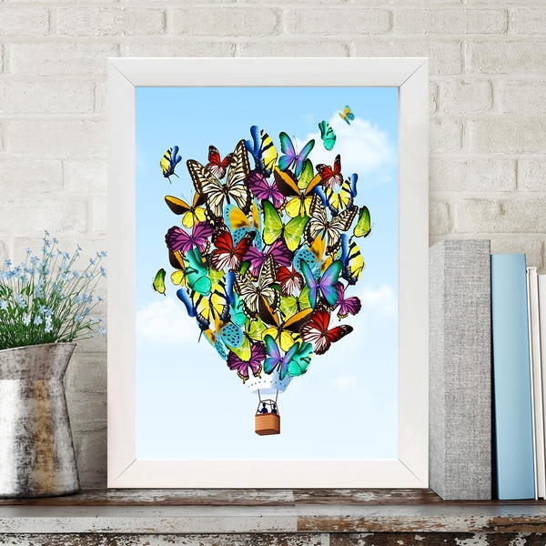 BC466725590 Multicolor Decorative Framed MDF Painting