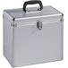 Hama 50 Vinyl Records LP Case Aluminium Look Silver - Image 2