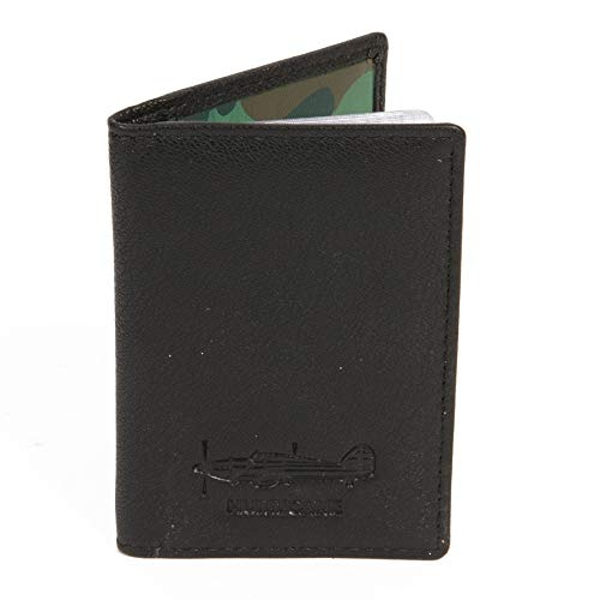 Military Heritage Leather Card Wallet - Hurricane