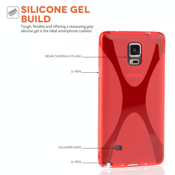 YouSave Accessories Samsung Galaxy Note 4 Silicone Gel X-Line Case
