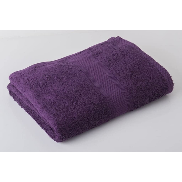 Victoria London Luxury Combed Bath Towel, Aubergine Berry