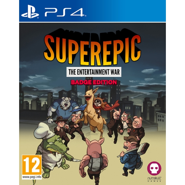 SuperEpic The Entertainment War Badge Collector's Edition PS4 Game