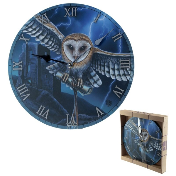 Heart of the Storm Owl Wall Clock