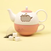 Thumbs Up! Pusheen - Tea For One Set (Gold)