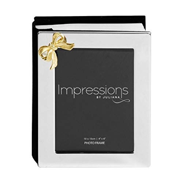 Impressions Silver Plated Photo Album & Frame holds 100