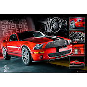 Easton Red Mustang GT500 Maxi Poster