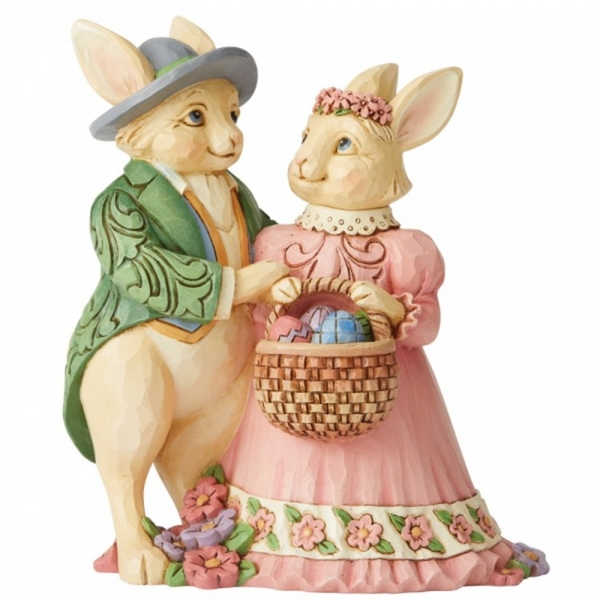 Hare's To Happiness Bunny Couple Figurine by Jim Shore
