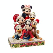 Piled High with Holiday Cheer (Mickey and friends) Disney Traditions Figurine [Damaged Packaging]