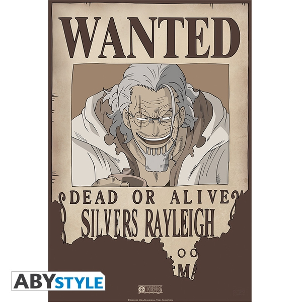 One Piece - Wanted Rayleigh Poster