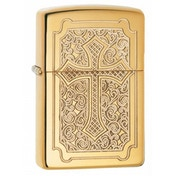 Zippo Crucifix Armor High Polish Brass