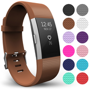 Yousave Fitbit Charge 2 Strap Single (Large) - Brown