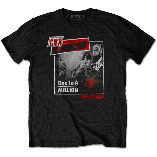 Guns N' Roses - One in a Million Men's Large T-Shirt - Black