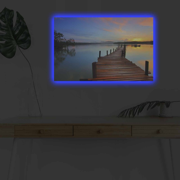 4570DHDACT-012 Multicolor Decorative Led Lighted Canvas Painting