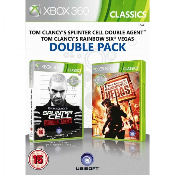 Ubisoft Double Pack Rainbow Six Vegas & Splinter Cell Double Agent Game Xbox 360