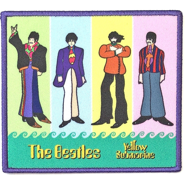 The Beatles - Yellow Submarine Band in Stripes Standard Patch