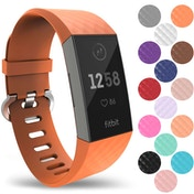 YouSave Activity Tracker Silicone Sports Strap - Orange (Small)