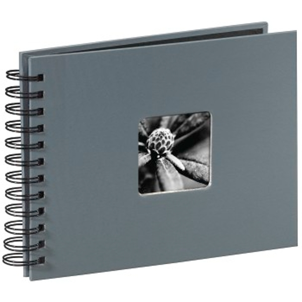 "Hama ""Fine Art"" Spiralbound Album, 24 x 17 cm, 50 black pages, grey"