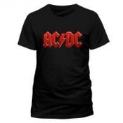 AC/DC Red Logo T-Shirt, Unisex, Extra Large, Black