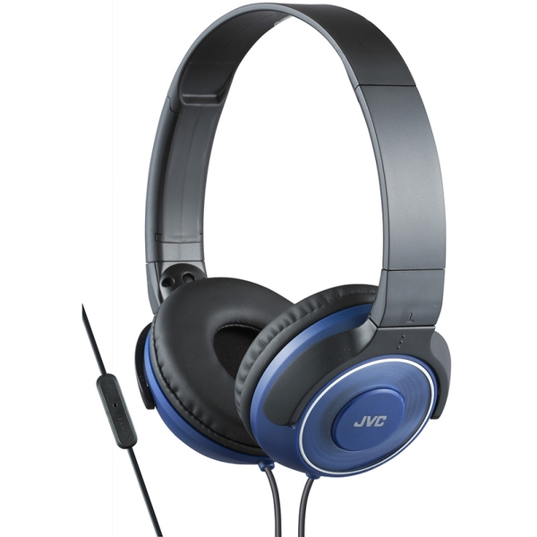 JVC HASR225AE Superior Sound Headphones with Mic and Remote - Blue