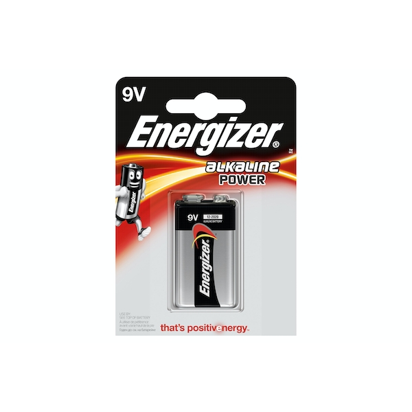 Energizer Alkaline Power Battery 9V